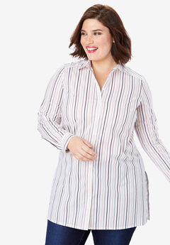 Kate Tunic, BEIGE VARIEGATED STRIPE
