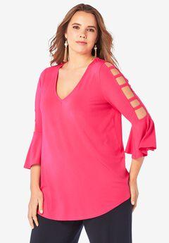 Ultrasmooth® Lattice-Sleeve Top,