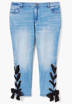 Lace-Up Skinny Jean By Denim 24/7®,