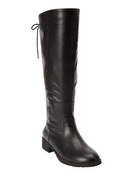 Charleston Mid Calf Boots by Comfortview, BLACK, hi-res