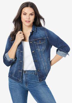 Essential Denim Jacket, MEDIUM WASH