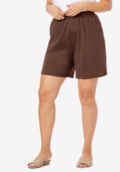 Soft Knit Short, RICH BROWN