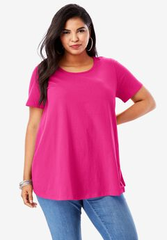Ultimate Trapeze Tee, VIVID PINK