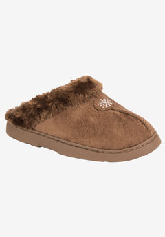 Clog with Fur Lining by Muk Luks®, BROWN