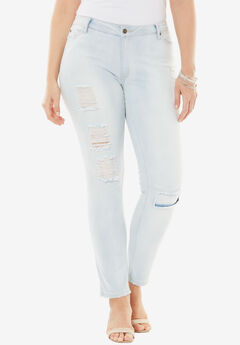 Distressed Jeans by Denim 24/7®, BLEACH, hi-res