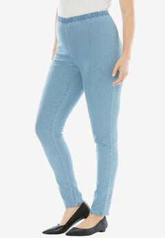 Skinny Pull-On Stretch Jean by Denim 24/7®,