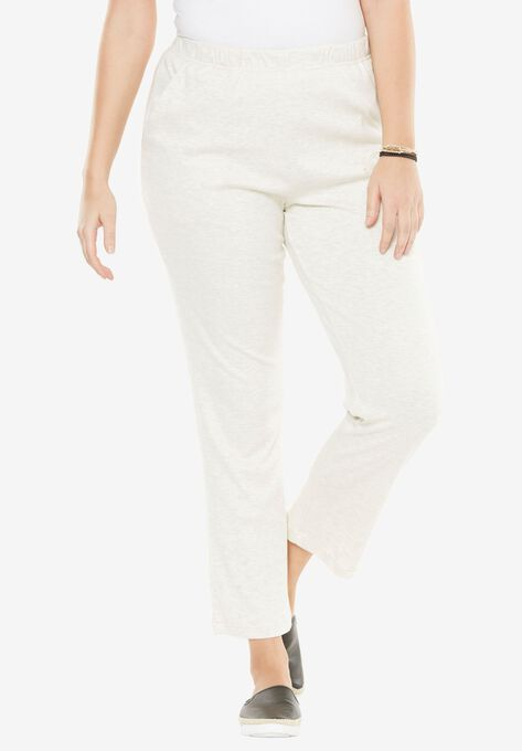 60147419e9a8c Soft Knit Straight-Leg Pants