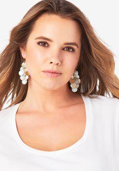 Shell Drop Earrings,