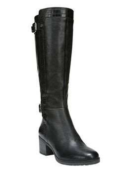 Rozene Wide Calf Boots by Naturalizer®, BLACK, hi-res