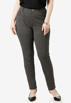 Ultimate Ponte 5-Pocket Skinny Pant, HOUNDSTOOTH