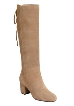 Stock Market Wide Calf Boots by Aerosoles®, TAUPE SUEDE, hi-res