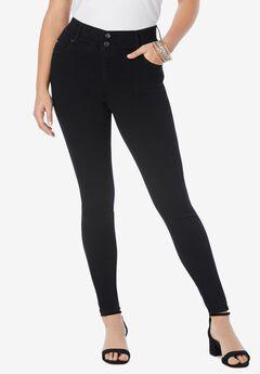 The Skinny-Leg Curvy Jean by Denim 24/7®, BLACK