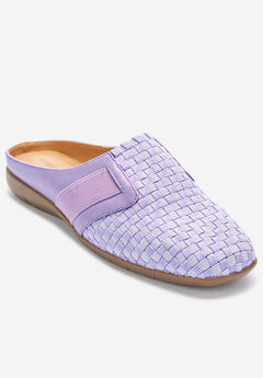 The Lola Mule by Comfortview®, LILAC METALLIC