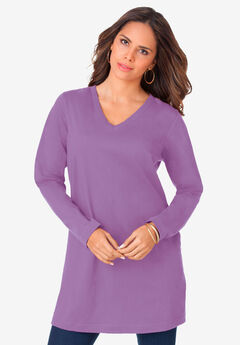 Long-Sleeve V-Neck Ultimate Tunic,