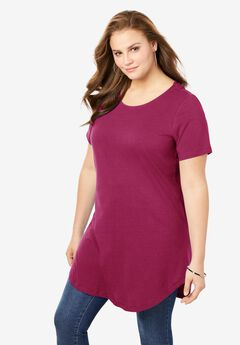 Crisscross-Back Ultimate Tunic, BERRY TWIST