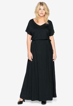 Side-Tie Maxi Dress by Castaluna,