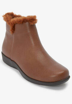 The Tansy Bootie by Comfortview®, COGNAC