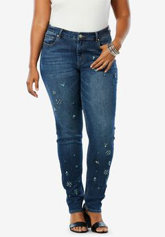 Rhinestone Boyfriend Jean by Denim 24/7®,