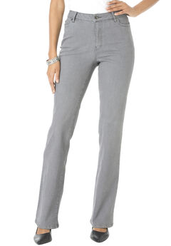 Bootcut Jean with Invisible Stretch® by Denim 24/7®, GREY WASH