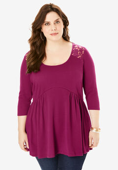 Fit-And-Flare Henley Tunic,