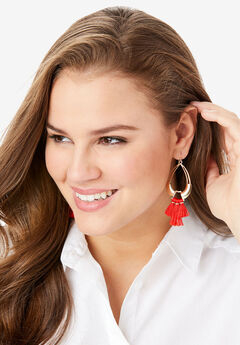 Tassel Drop Earrings,