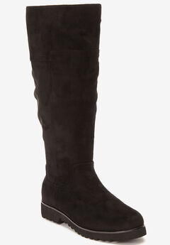 The Gaby Wide Calf Boot by Comfortview®, BLACK