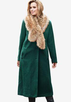Long Wool Coat, EMERALD GREEN, hi-res