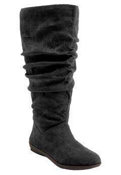 Alanis Wide Calf Boot by Comfortview, BLACK SUEDE, hi-res