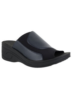 Slight Sandals by Easy Street®, NAVY BLACK NEOPRENE, hi-res