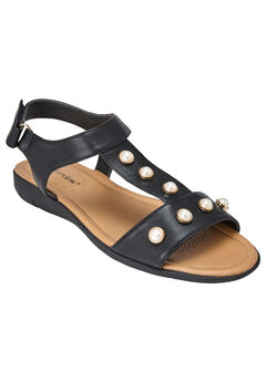Annalise Sandals by Comfortview®, BLACK, hi-res
