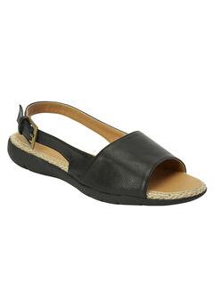 The Adele Sling Sandal by Comfortview®, BLACK