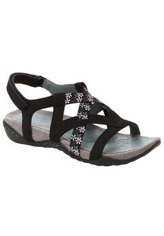 Woodland Sandals by JSport®, BLACK, hi-res