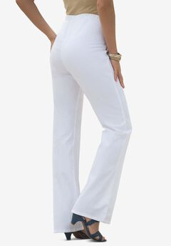 Bootcut Pull-On Stretch Jean by Denim 24/7®, WHITE DENIM