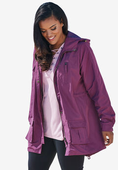 Hooded Anorak Raincoat, FIG, hi-res