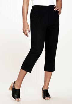 Pull-On Stretch Capri Jean, BLACK DENIM