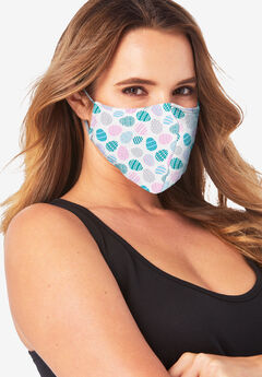 Women's Two-Layer Reusable Face Mask, EASTER EGGS
