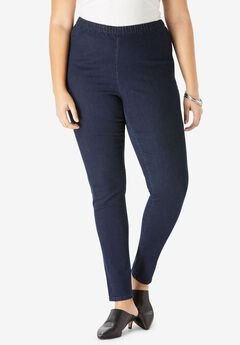 Skinny Pull-On Stretch Pant by Denim 24/7®, INDIGO WASH