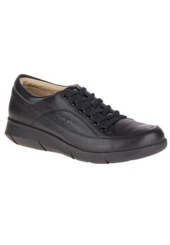 Dasher Mardie Sneakers by Hush Puppies®, BLACK LEATHER, hi-res