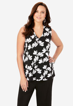 V-Neck Tank, SIMPLE ABSTRACT FLORAL