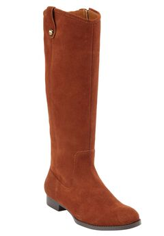 Paxton Tall Calf Boots by Comfortview, COGNAC, hi-res