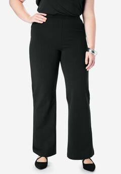 Wide-Leg Ultimate Ponte Pant, BLACK