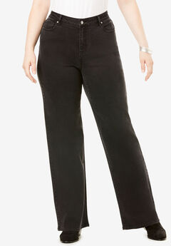 Wide-Leg Jean with Invisible Stretch® by Denim 24/7®, BLACK DENIM