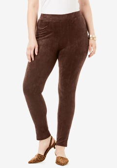 Faux Suede Legging, RICH BROWN