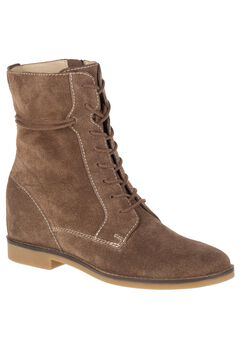 Bab Felise Wide Calf Boots by Hush Puppies®, BROWN SUEDE, hi-res