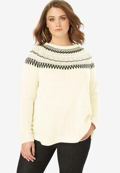 Fair Isle Pullover Sweater,