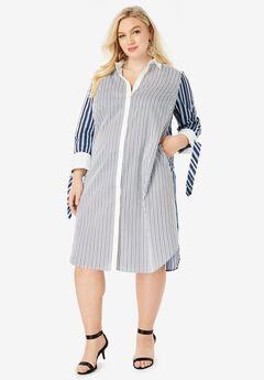 Tie-Sleeve Kate Shirtdress,