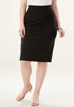 Ultimate Ponte Pencil Skirt, BLACK