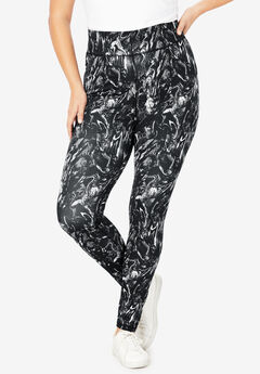 Performance Legging, BLACK WHITE MARBLE