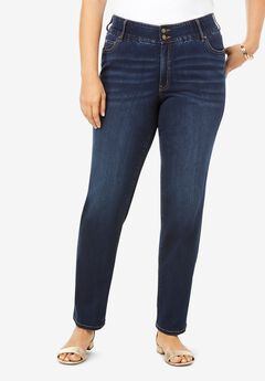 The Straight-Leg Curvy Jean by Denim 24/7®, DARK WASH