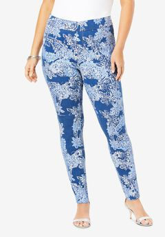The No-Gap Jegging by Denim 24/7®, ETCHED PAISLEY